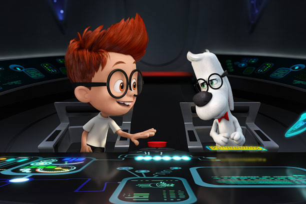 In this 3-D action-adventure animated film, Ty Burrell voices a talking super-dog named Mr. Peabody, based on the character from The Rocky and Bullwinkle Show…