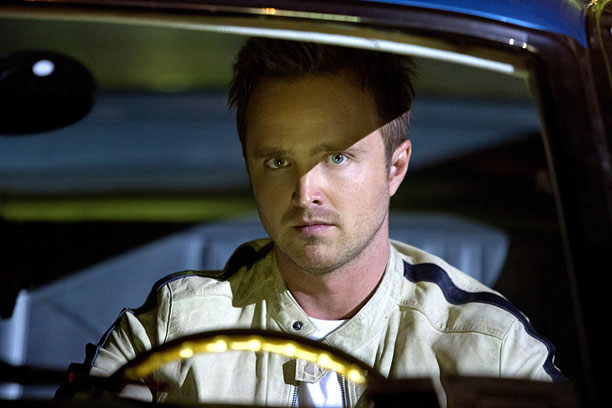 STRIFE IN THE FAST LANE Aaron Paul plays a street racer seeking vengeance in Need for Speed .