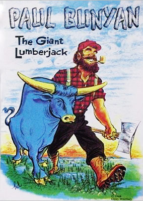 Paul Bunyan | Legend of Paul Bunyan (c. 1906) You'd be blue, too, if your only companion was a giant lumberjack.