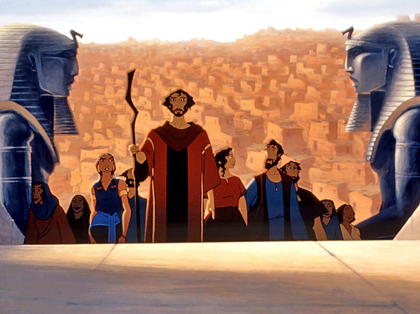 By way of the Book of Exodus, this beautifully animated musical is forthrightly earnest about its source material, and lively, too. — Lisa Schwarzbaum