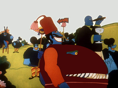 Who tormented the Beatles as they wandered through their very own psychedelic cartoon dreamland in Yellow Submarine ? Why, these nasty little music-phobes — royal-blue…