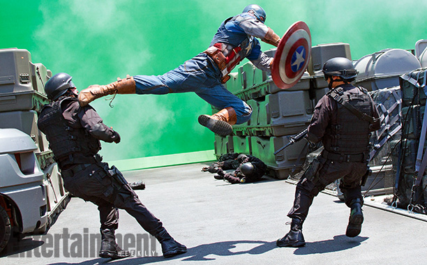 Captain America: The Winter Soldier   For an early scene in Captain America: The Winter Soldier , Cap takes out two guards on an aircraft carrier, which will be digitally created…