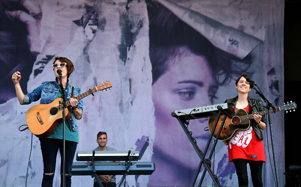 Lineup Highlights: Vampire Weekend, Foster the People, Tegan and Sara (shown), Cake Pro: They actually let you bring in a bottle of water if it's…