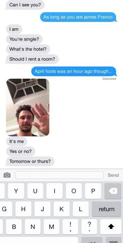 James Franco Deleted Instagram