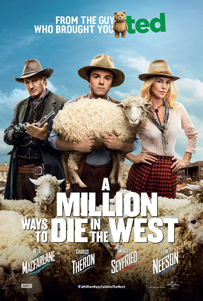 Although it falls victim to some bad photoshopping (do actors even pose for posters in the same continent anymore?) credit Seth MacFarlane with an eye-grabbingly…