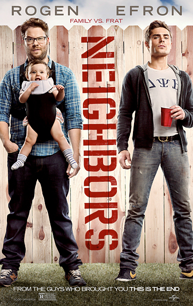 A straightforward concept. Two very different demographics: Rogen as aging-stoner-thirtysomething, Efron-as-aging-teen-hottie. Also, incongruous babies are always funny. Simple and effective. B+