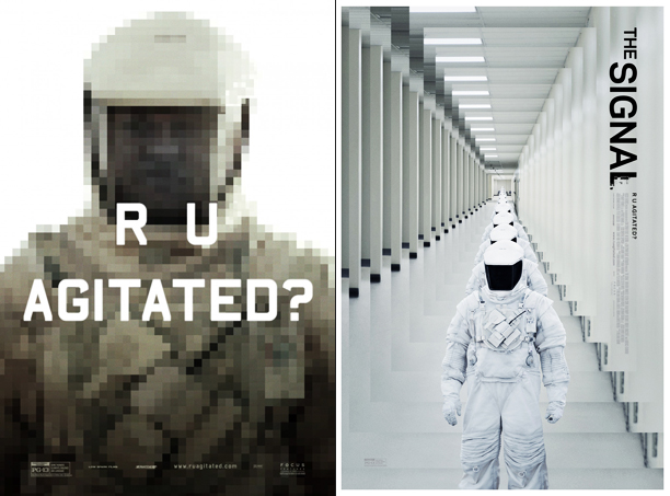 How do you sell a weird little science-fiction movie? With weird minimalist sci-fi imagery of course! Attention-grabbing and lo-fi, albeit maybe a bit too opaque…