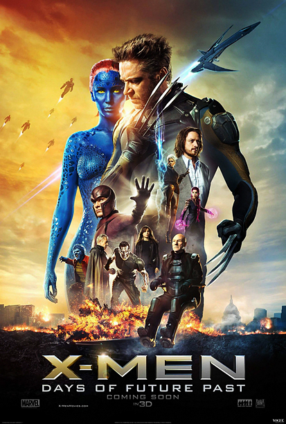 Fox launched their campaign for the X-Men prequel-sequel with those groovy past/future overlays of Magneto and Professor X . But their latest poster is more…