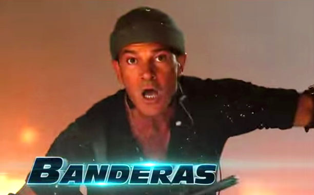 With guns locked and loaded, new middle-age rager Antonio Banderas is packing all kinds of heat.