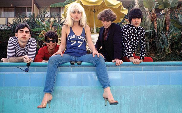Chris Stein, Jimmy Destri, Debbie Harry, Gary Valentine, and Clem Burke in Los Angeles in 1977