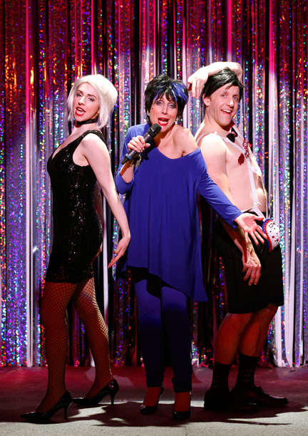 FORBIDDEN BROADWAY COMES OUT SWINGING! Mia Gentile, Carter Calvert, and Scott Richard Foster