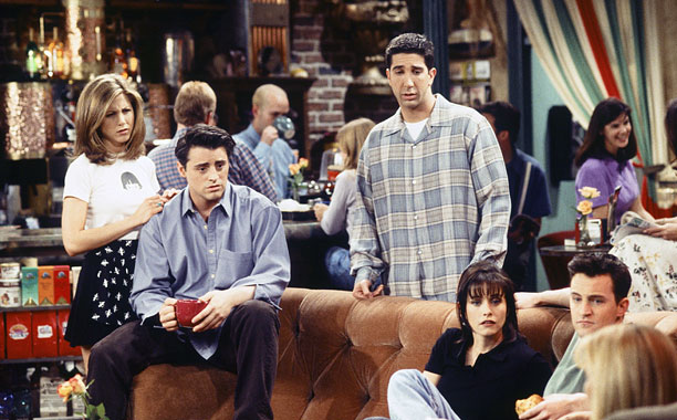 Friends   Central Perk (shown) Soho's answer to Cheers, minus the booze; service is terrible. Cheesecakes The cause of one of very few fights between Chandler and…
