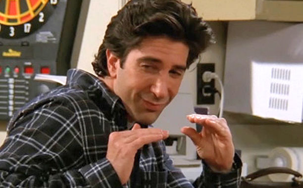 """Friends   """"Quiet down"""" hands When Ross moves in with Chandler and Joey in season 5, he drives them crazy by frequently and non-verbally telling them to…"""