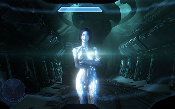 Halo debuts ''holotanks,'' roving hologram machines within the game.
