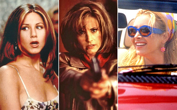 Film Follow-Up: Jennifer Aniston, Picture Perfect ; Courteney Cox, Scream ; Lisa Kudrow, Romy & Michelle's High School Reunion Though Aniston ultimately found her footing…