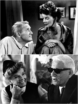 Spencer Tracy, Katharine Hepburn | Although Tracy was married to Louise Treadwell from 1923 to his death in 1967, the actor had an on-and-off affair with Hepburn starting with the…