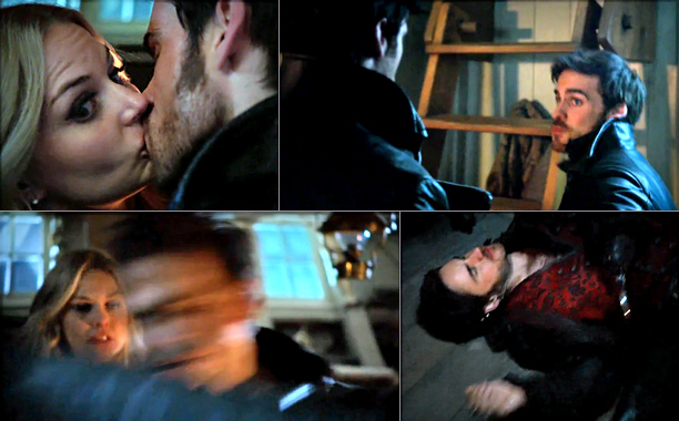 Hook gets jealous of his past self and punches him(self) in the face, Once Upon a Time , 60.2% 2. Red eats peaches while holding…