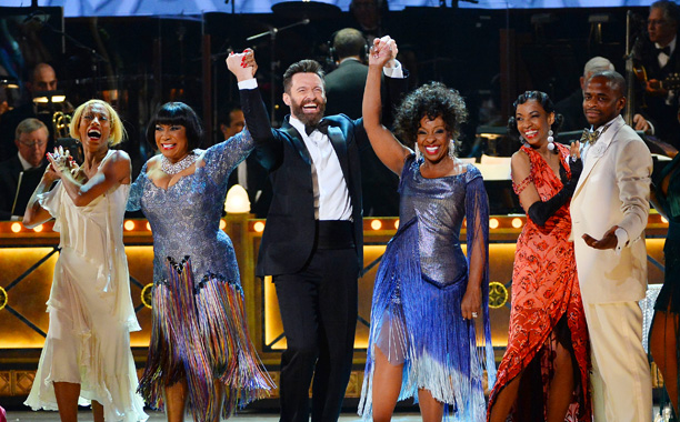 Tony Awards | HIGHLIGHT: Starry, high-stepping number from After Midnight , which starts with Fantasia in a fringy green gown, adds Gladys Knight and Patti LaBelle, and then…