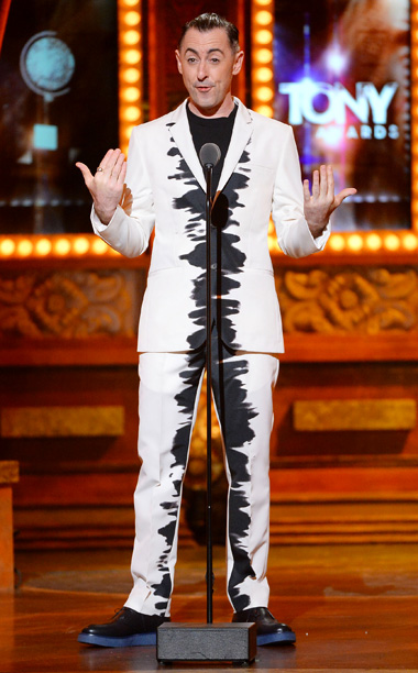 Tony Awards | LOWLIGHT: After delivering a terrific performance from Cabaret , the Good Wife star appears wearing a white jacket with a mysterious Rorschach test-like inkblot on…