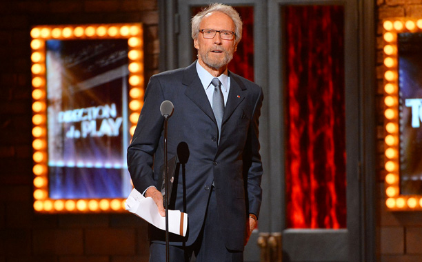Tony Awards | LOWLIGHT: Clint Eastwood appears lost as he hands out the directing prizes. Did someone forget to bring him his chair from the Republican National Convention?