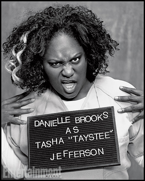 Orange Is the New Black | Played by: Danielle Brooks Rap Sheet: Unrefined bookworm who gets released but ends up back in Litchfield after violating her parole. On the Outside: Brooks…