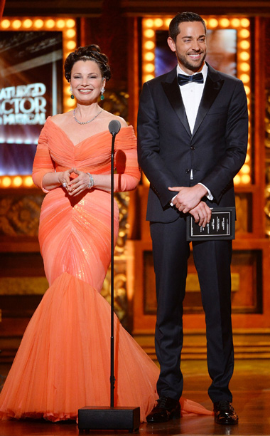 Tony Awards | LOWLIGHT: Fran Drescher, dressed like a lobster with ruching, gets ahead of herself introducing the nominees for featured actor in a musical.