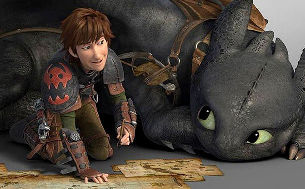 VISUALLY PLEASING Hiccup and Toothless are back in action and in 3-D!