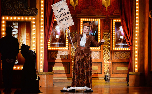 Tony Awards | HIGHLIGHT: Tony nominee Jefferson Mays pulls off an impressive live quick-change (into three of his nine characters) to introduce a musical number from Best Musical…