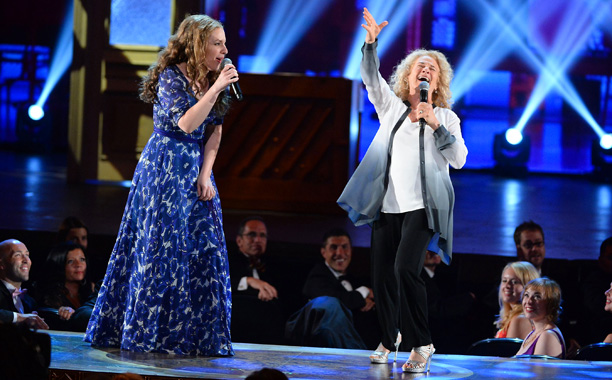 Tony Awards | HIGHLIGHT: When legendary Carole King appeared to sing with her younger self (Tony winner Jessie Mueller) in the musical number for Beautiful , you could…