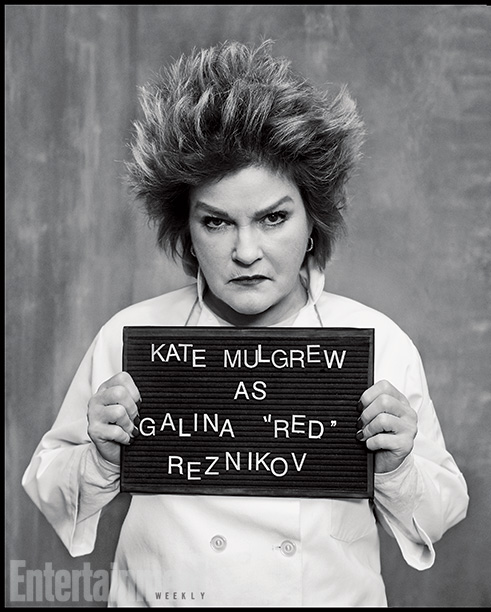 Orange Is the New Black | Played by: Kate Mulgrew Rap Sheet: After being told to pack her knives last season, the former culinary queen is adjusting to life outside the…