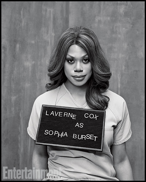 Orange Is the New Black | Played by: Laverne Cox Rap Sheet: Litchfield's only transgender woman fights discrimination by officers and inmates alike. On the Outside: The multilayered Sophia provides Cox…