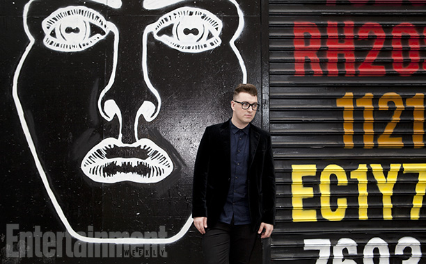Sam Smith | Strolling out to find a smoothie before heading uptown for more press, Smith spies street art promoting the British band Disclosure, with whom he collaborated…