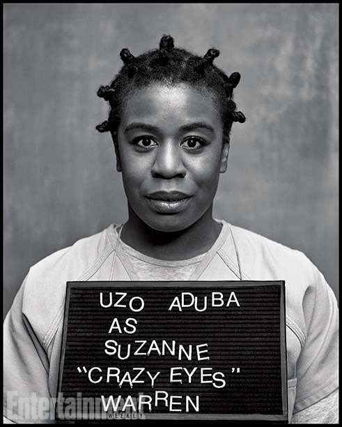 Orange Is the New Black | Played by: Uzo Aduba Rap Sheet: Piper's wannabe prison wife, who's surprisingly sensitive and shy. On the Outside: The character of Crazy Eyes was based…