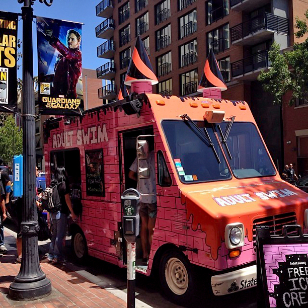 Adult Swim scoops up ice cream on a warm San Diego day