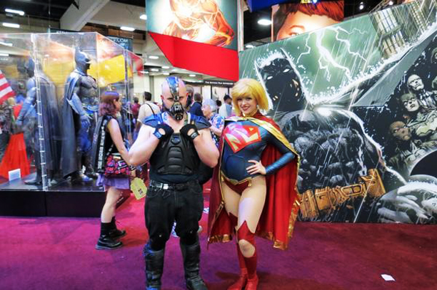 The odd couple: Bane and Supergirl