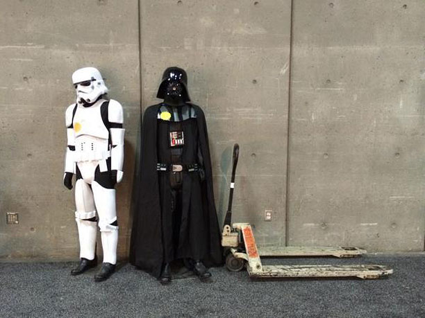 Even Stormtroopers and Darth Vader need a quiet moment