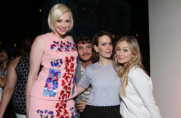 Gwendoline Christie, Pedro Pascal, Sarah Paulson, and guest