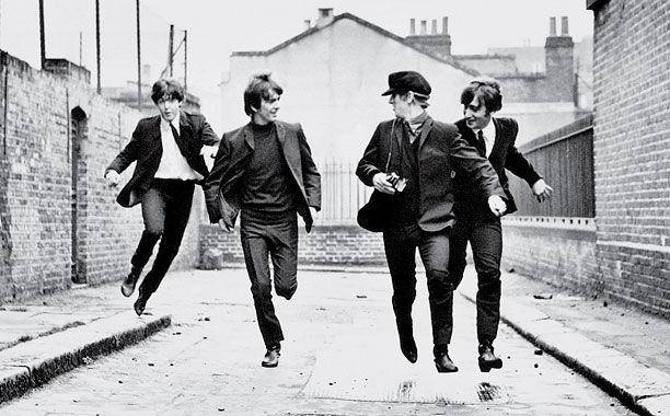 A HARD DAY'S NIGHT Paul McCartney, George Harrison, Ringo Starr, and John Lennon