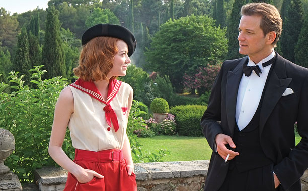 MAGIC IN THE MOONLIGHT Emma Stone and Colin Firth