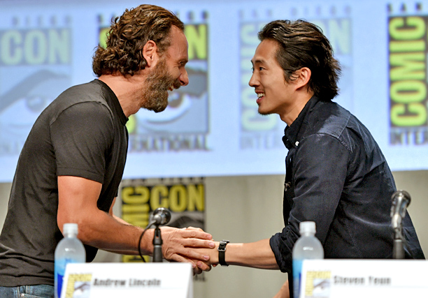 Andrew Lincoln and Steven Yeun, The Walking Dead