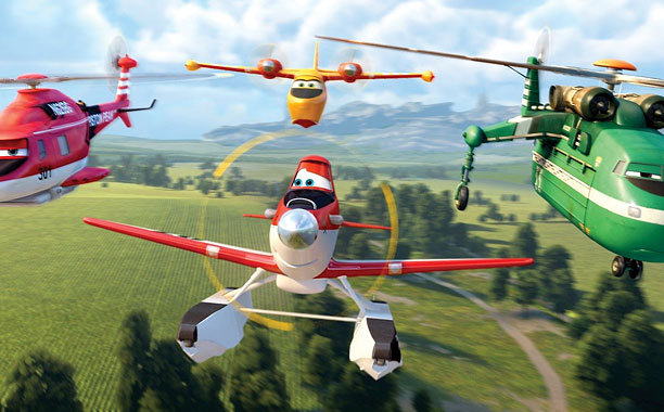 PLANES: FIRE & RESCUE Blade Ranger, Dipper, Dusty, and Windlifter