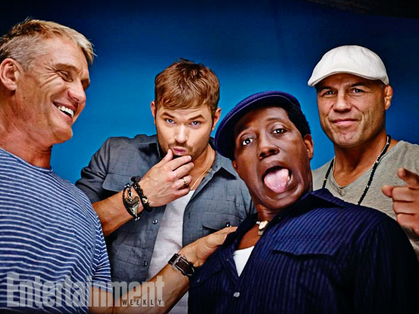 Dolph Lundgren, Kellan Lutz, Wesley Snipes, and Randy Couture, The Expendables 3