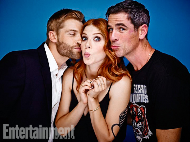Mike Vogel, Rachelle Lefevre, and Eddie Cahill, Under the Dome