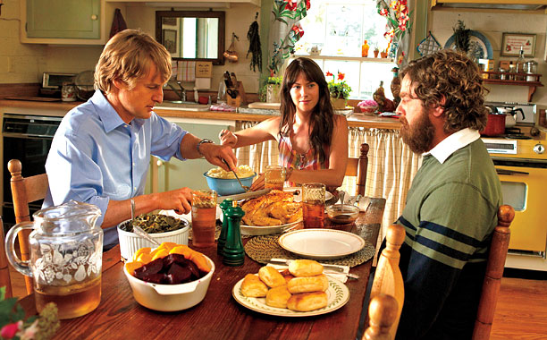 ARE YOU HERE Owen Wilson, Laura Ramsey, and Zach Galifianakis