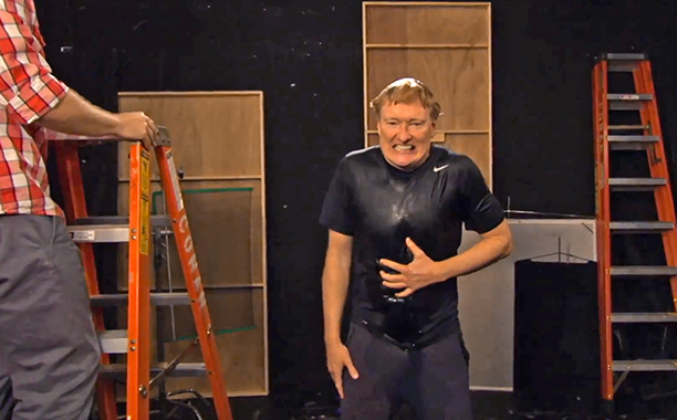 Conan Takes Ice Bucket Challenge
