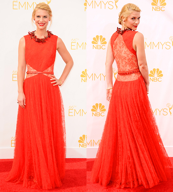 Primetime Emmy Awards 2014 | He said: I just don't think anyone ever wore a red dress better than Claire Danes wore a red dress at last year's Golden Globes…