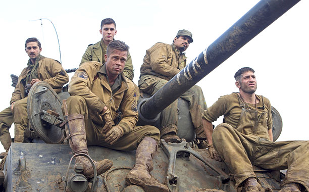 Most directors try to prevent actors from fighting. But while shooting the fictional WWII tank movie Fury , David Ayer had his five stars—Brad Pitt,…