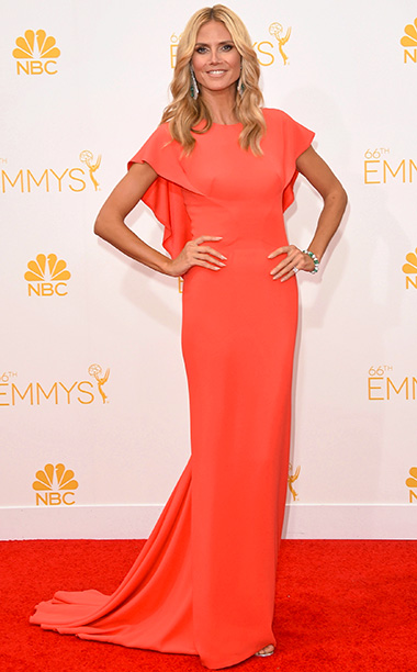 Primetime Emmy Awards 2014 | He said: I feel like this dress looked great in sketch form, and then Zac Posen actually created it, and said: ''Oh dear. I've created…