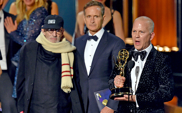 Upon The Normal Heart 's victory in the Outstanding TV Movie category, the audience gave writer/pioneering AIDS activist Larry Kramer a standing ovation. Director Ryan…