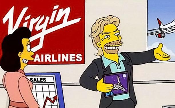 Richard Branson Simpsons